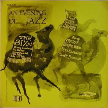 sonny criss tommy turk the six - an evening of jazz 1065