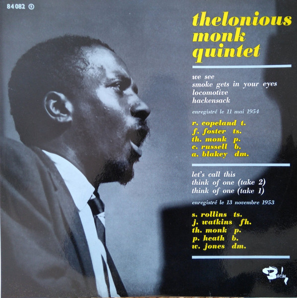 thelonious monk quintets barclay